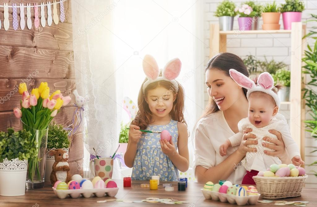 Easter Stock Photos & Images. Photo Deal: 100 Royalty-free Photos & Vectors – $69! - depositphotos 101689156 stock photo family preparing for easter