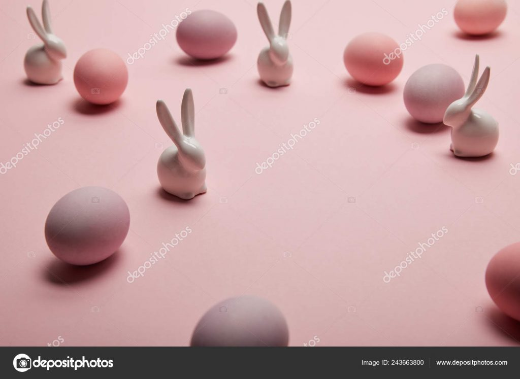 Easter Stock Photos & Images. Photo Deal: 100 Royalty-free Photos & Vectors – $69! - depositphotos 243663800 stock photo toy bunnies painted easter eggs