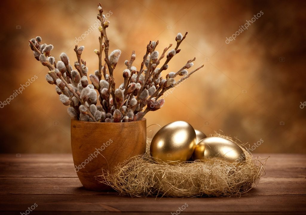 200+ Premium Easter Background in 2020: Free Vectors, Photos PSD files and Elements in Web Design - depositphotos 6672386 stock photo easter golden eggs in the