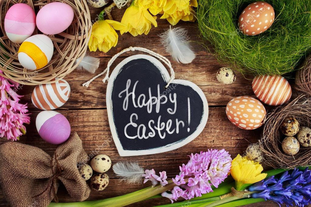 Easter Stock Photos & Images. Photo Deal: 100 Royalty-free Photos & Vectors – $69! - depositphotos 67018845 stock photo black board with text happy