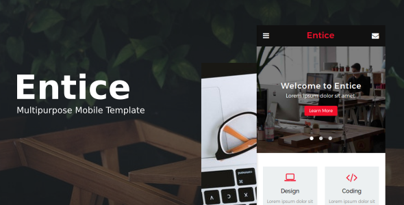 38+ Mobile Website Template Bundle: Themeforest Quality - entice