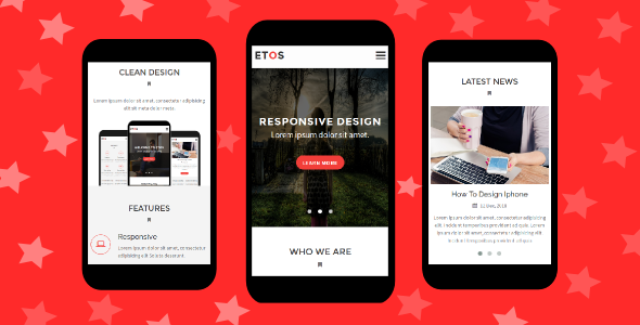 38+ Mobile Website Template Bundle: Themeforest Quality - etos