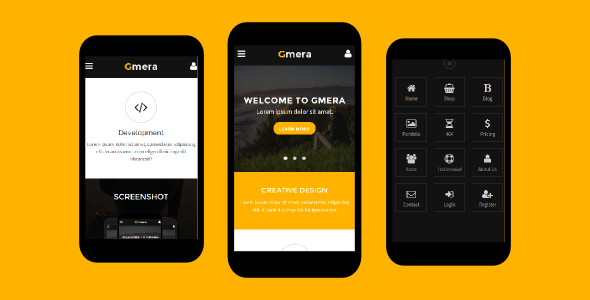 38+ Mobile Website Template Bundle: Themeforest Quality - gmera