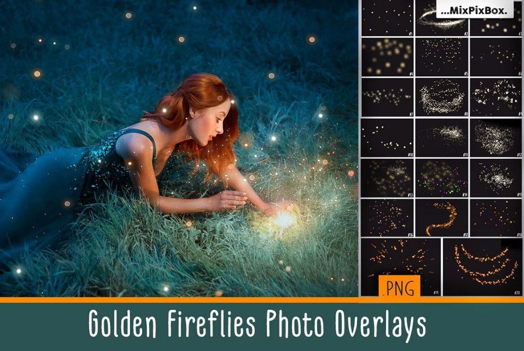 Huge Photo Editing Bundle - golden fireflies first image 1
