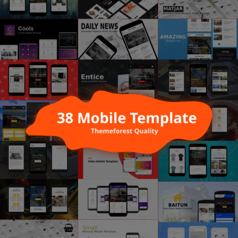 38+ Mobile Template Bundle: Themeforest Quality - image1 490x490