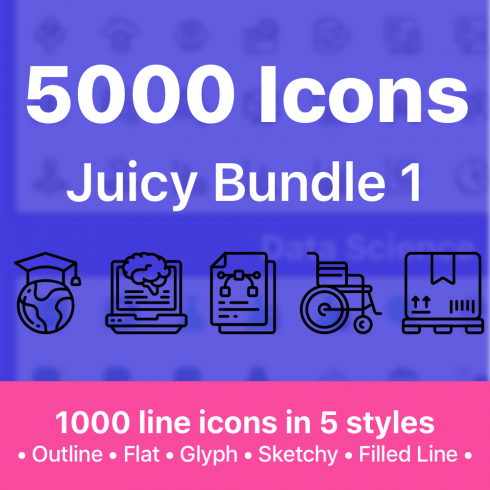 500 Flat Icons for Mobile Apps - just $15 - image 1 490x490
