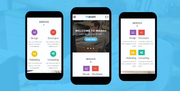 38+ Mobile Website Template Bundle: Themeforest Quality - masah