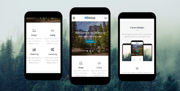 38+ Mobile Website Template Bundle: Themeforest Quality - minico