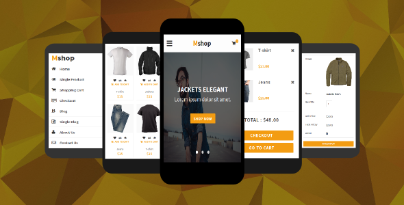 38+ Mobile Website Template Bundle: Themeforest Quality - mshop