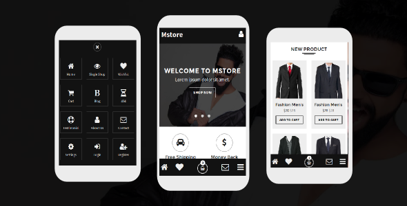 38+ Mobile Website Template Bundle: Themeforest Quality - mstore