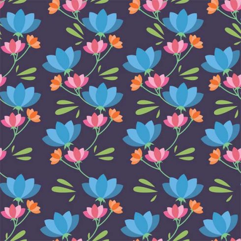 5 Free Floral Patterns from WowPatterns - pastel floral pattern 490x490