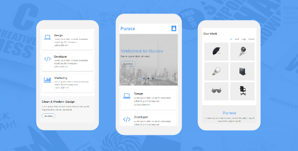 38+ Mobile Website Template Bundle: Themeforest Quality - purasa