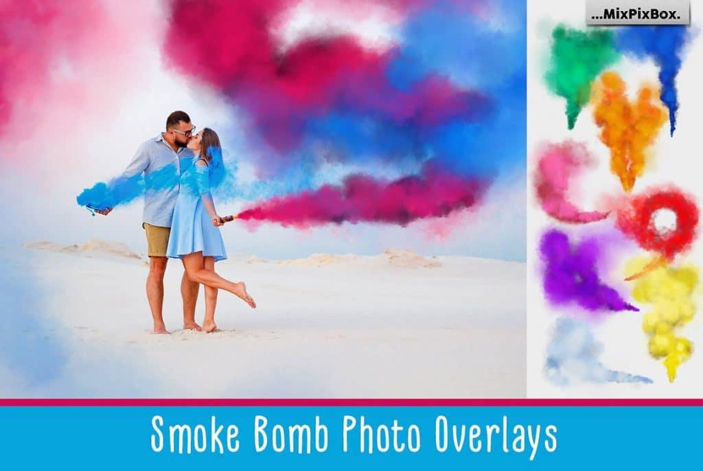 Huge Photo Editing Bundle - smoke bomb first image
