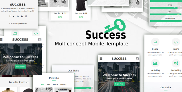 38+ Mobile Website Template Bundle: Themeforest Quality - success