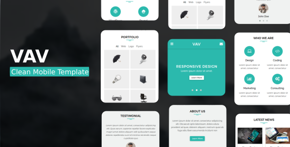 38+ Mobile Website Template Bundle: Themeforest Quality - vav