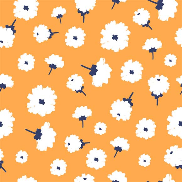 White zinnia flower seamless vector pattern. floral repeat background