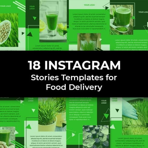 18 Food Delivery Instagram Story Templates - 01 1 490x490