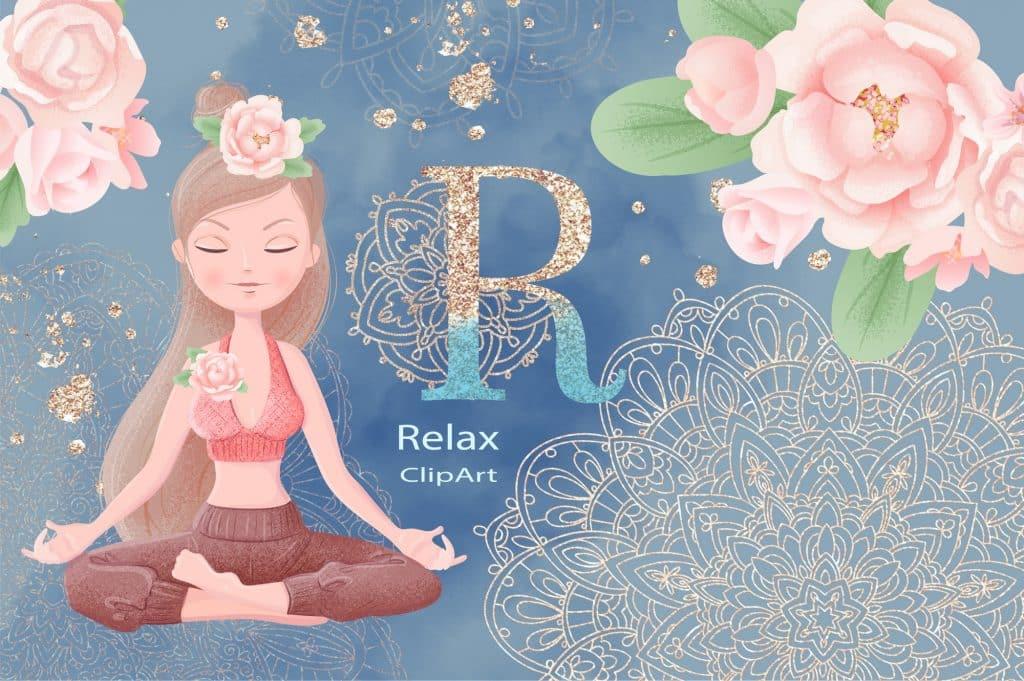 Relax Vectors: Mandalas, Bouquets, Flowers etc - $22 - 1 10
