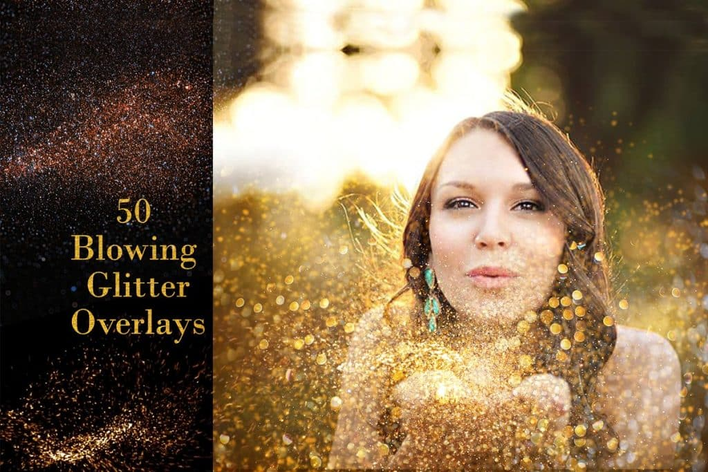45 Blowing Glitter Overlays - $8 - 1 2 1