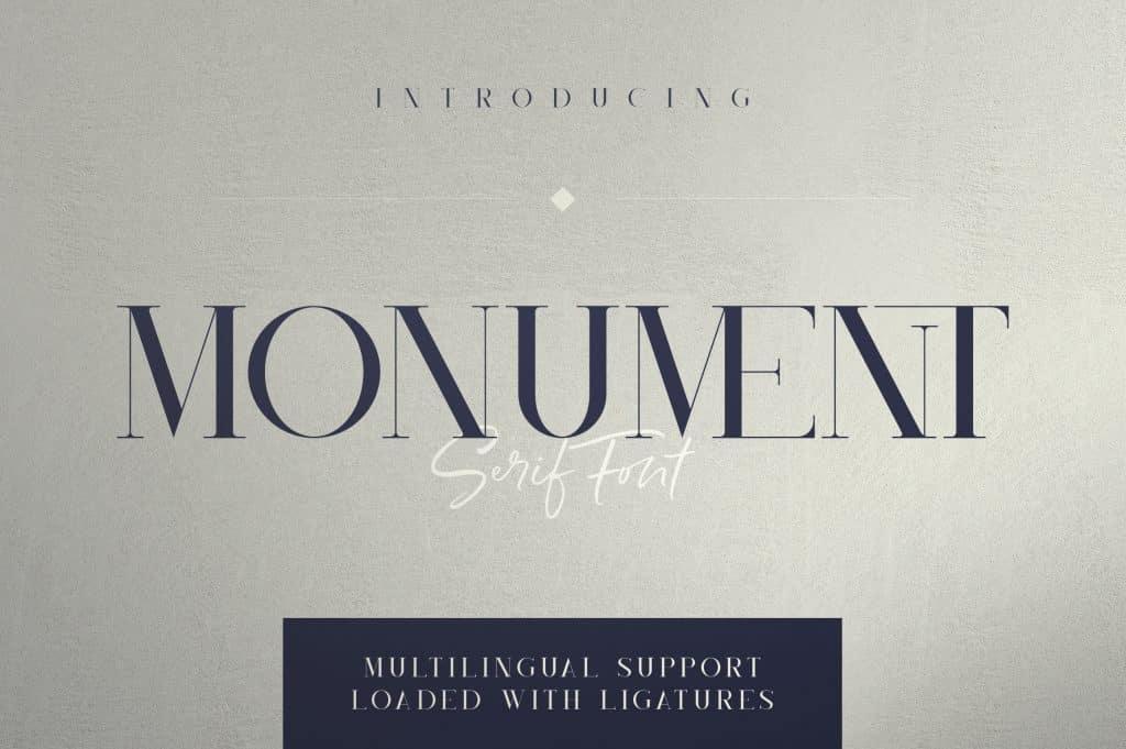Monument All Caps Serif Font - $15 - 1 9