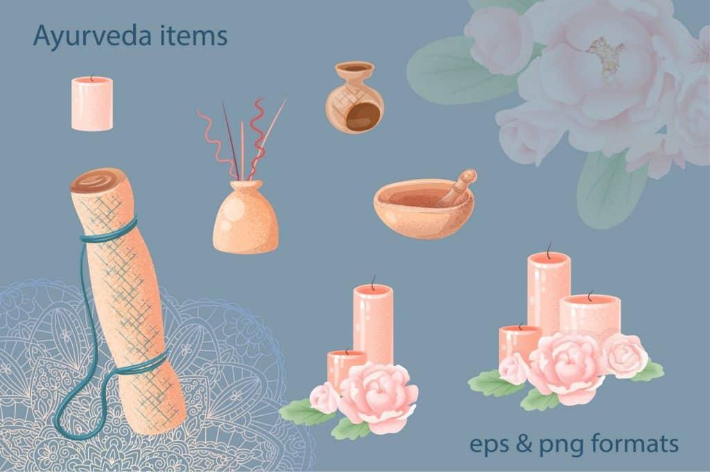 Relax Vectors: Mandalas, Bouquets, Flowers etc - $22 - 14 1