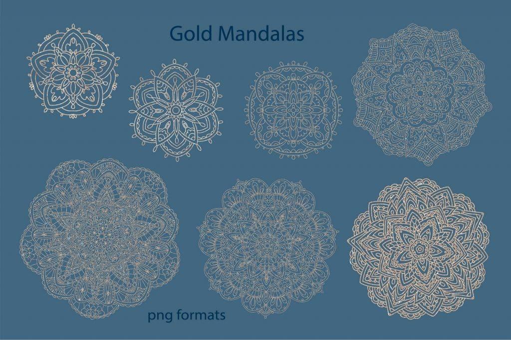 Relax Vectors: Mandalas, Bouquets, Flowers etc - $22 - 15 1