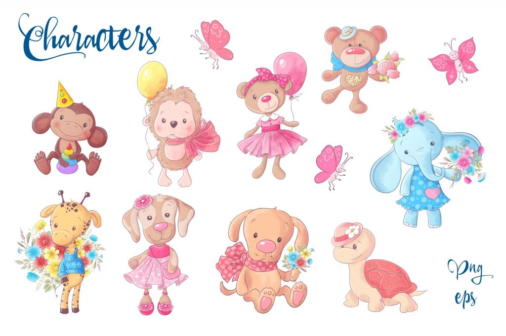 Cute Characters – Vector Clip Art - $14 - 2 1