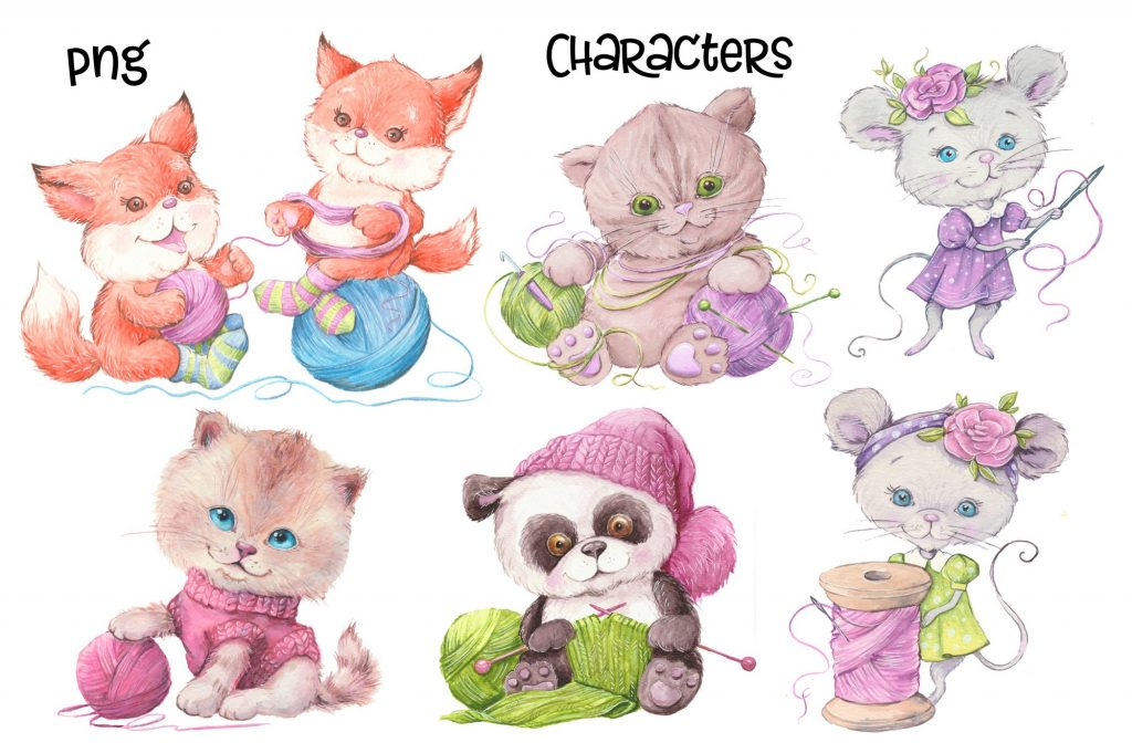 Hand Made Watercolor Clip Art - 2 4