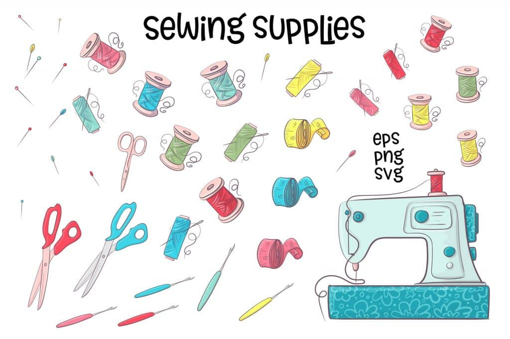 Hobby Sewing Vector Clipart - $24 - 3 11