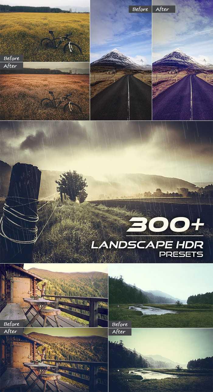 3000+ Perfect Lightroom Presets - 300 Landscape HDR Presets Large min