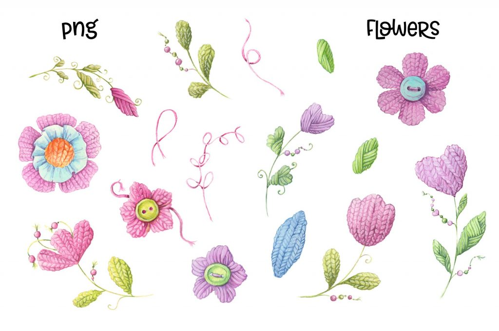 Hand Made Watercolor Clip Art - 4 3