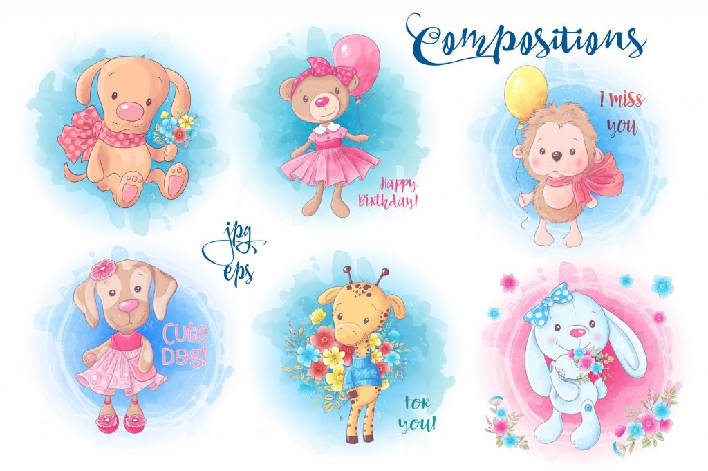 Cute Characters – Vector Clip Art - $14 - 5 1