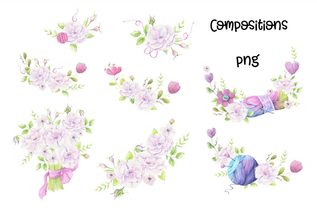 Hand Made Watercolor Clip Art - 5 3