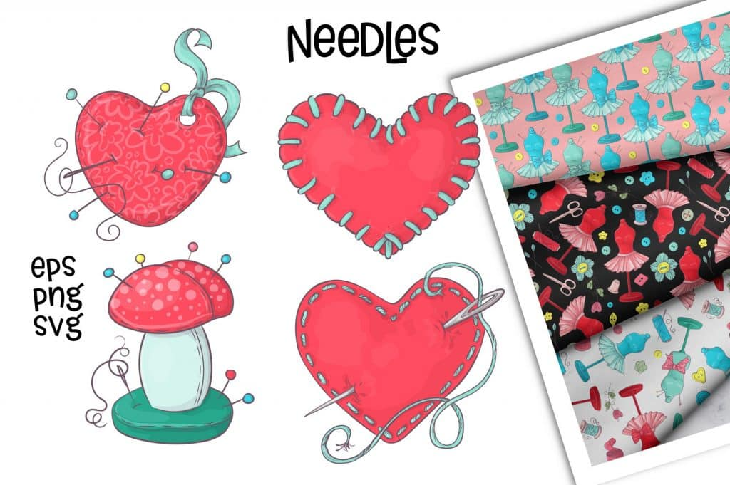 Hobby Sewing Vector Clipart - $24 - 5 9