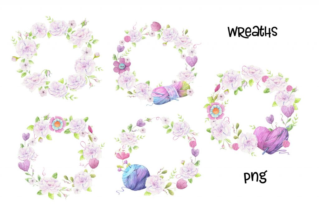 Hand Made Watercolor Clip Art - 6 3