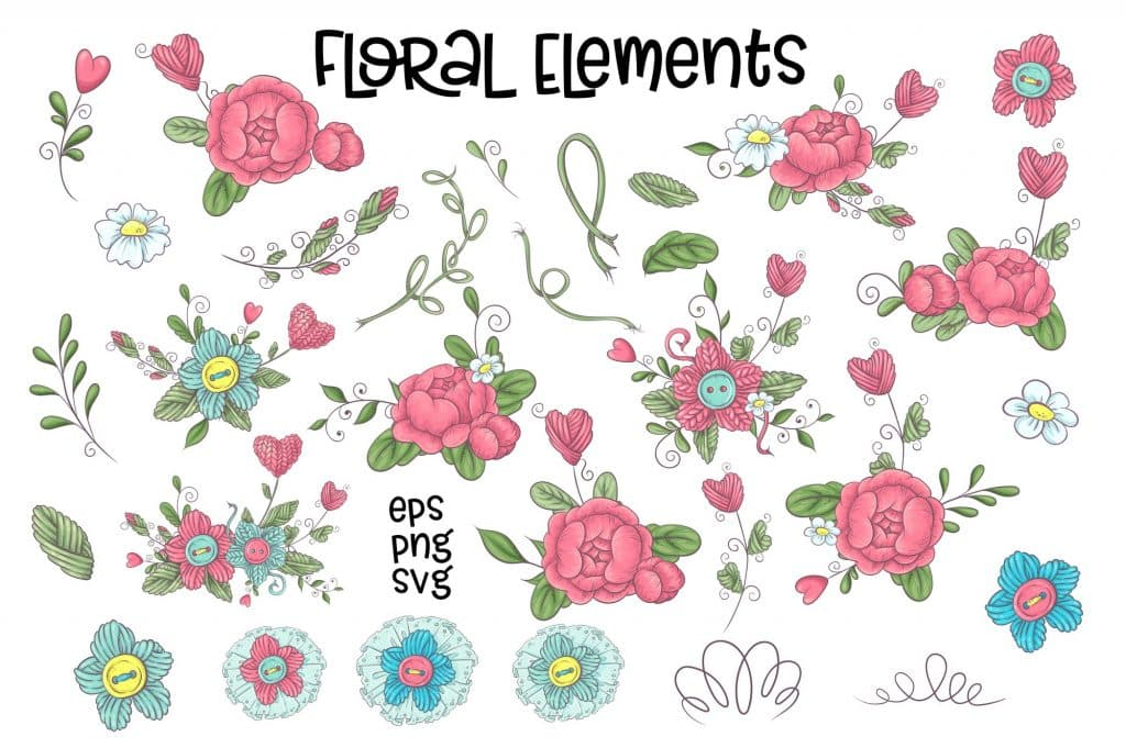 Hobby Sewing Vector Clipart - $24 - 6 8