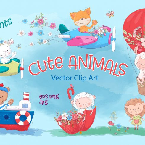 Cute Animals Vector Clip Art - $17 - 600 1 490x490