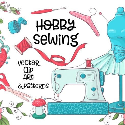 Hobby Sewing Vector Clipart - $24 - 600 14 490x490