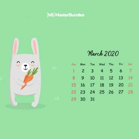 Free March 2020 Printable Calendar & Wallpapers - 600 16 490x490