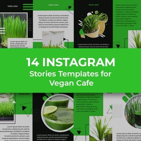 14 Vegan Cafe Instagram Story Templates - 690 5 490x490