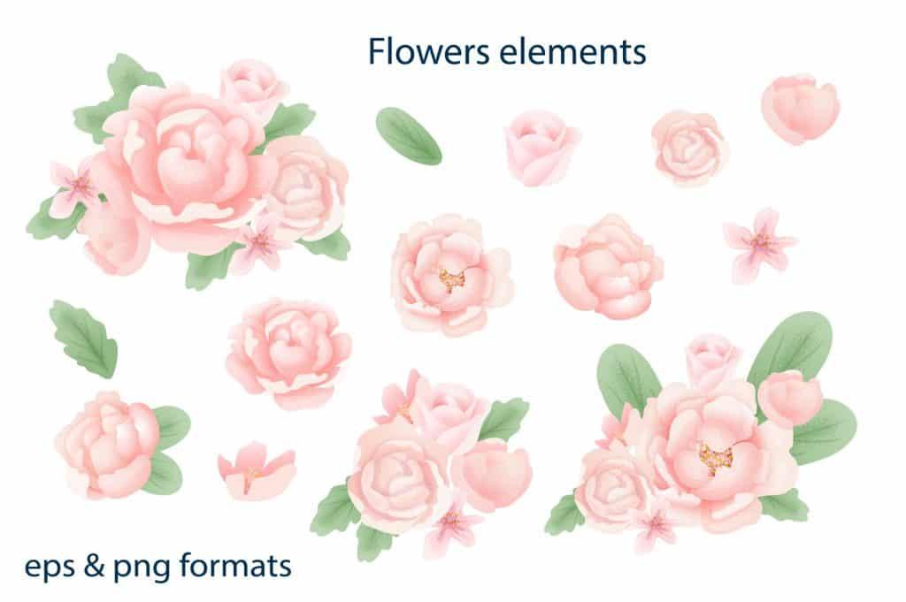 Relax Vectors: Mandalas, Bouquets, Flowers etc - $22 - 7 6