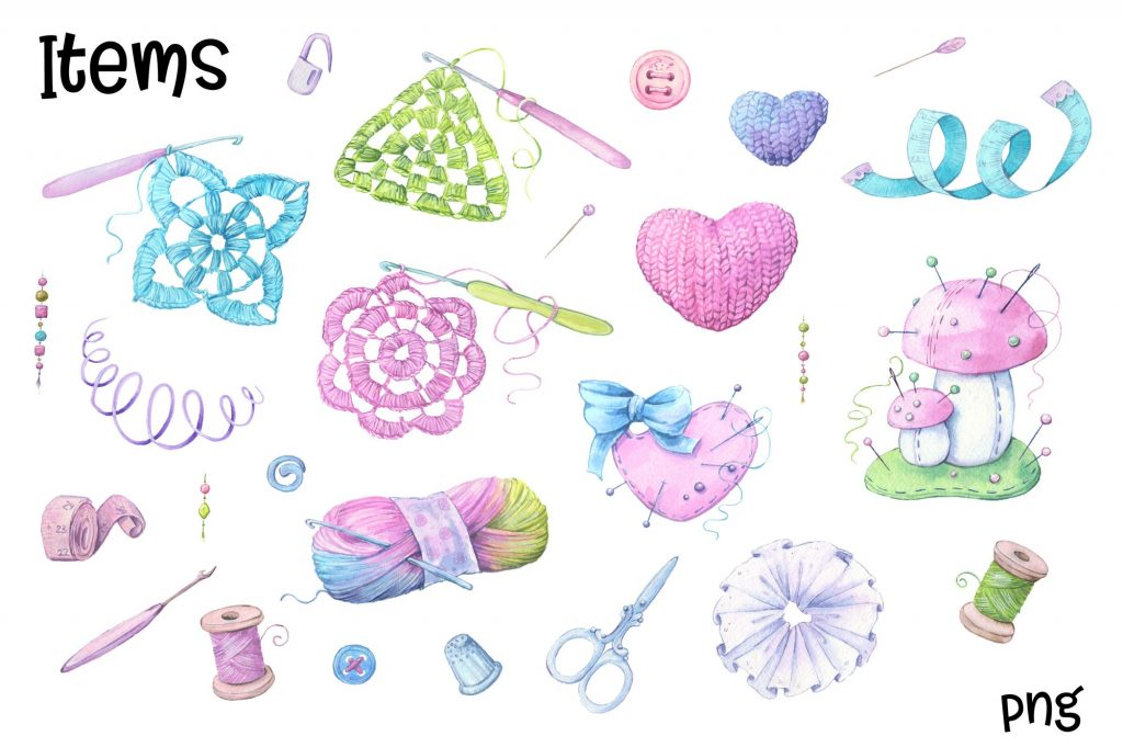 Hand Made Watercolor Clip Art - 8 3