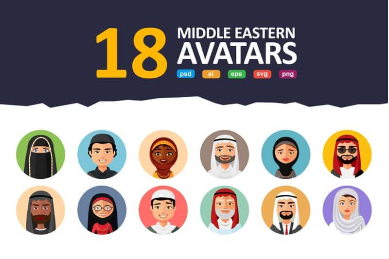 18 Flat & Middle Eastern Avatars - 800 3602159 47dq3a96ssqg8ajojqa17ph2u5sdzy80wozj869o 18 flat amp middle eastern avatars