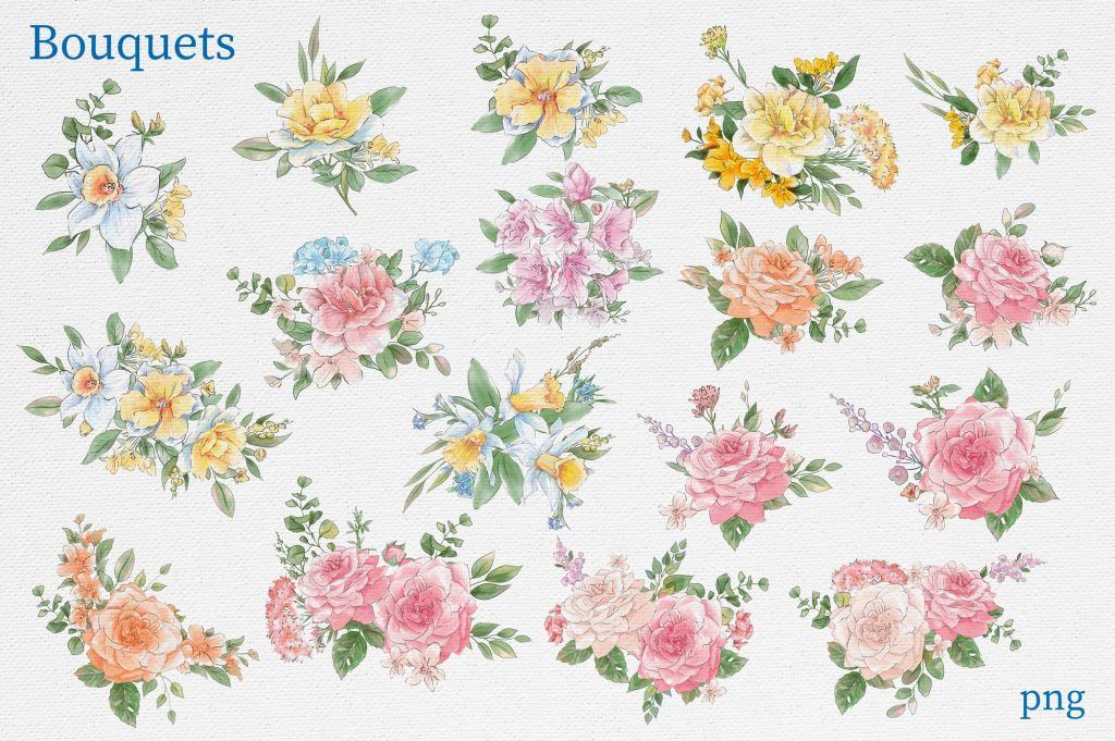 Delicate Spring Flowers - $27 - 9