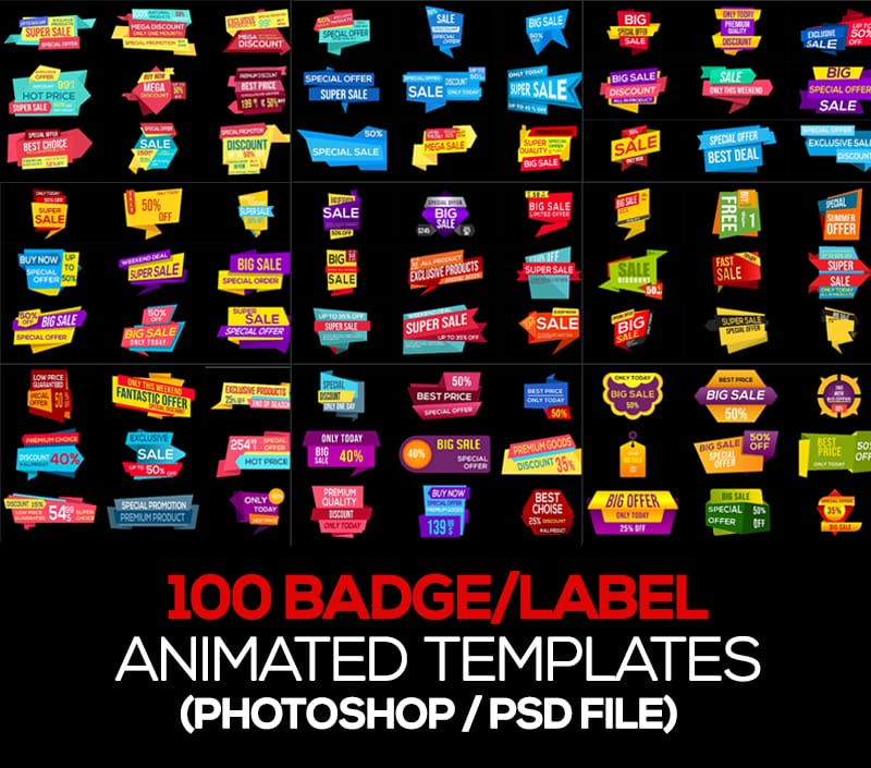 Playmotion Video or Animation Photoshop Template - $37 - Badge Preview