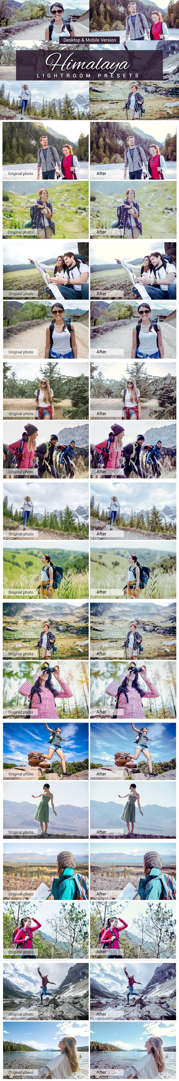 7500 New Complete Bundle Presets Lightroom, Photoshop Actions and Cinematic LUTs - Himalaya Preview min