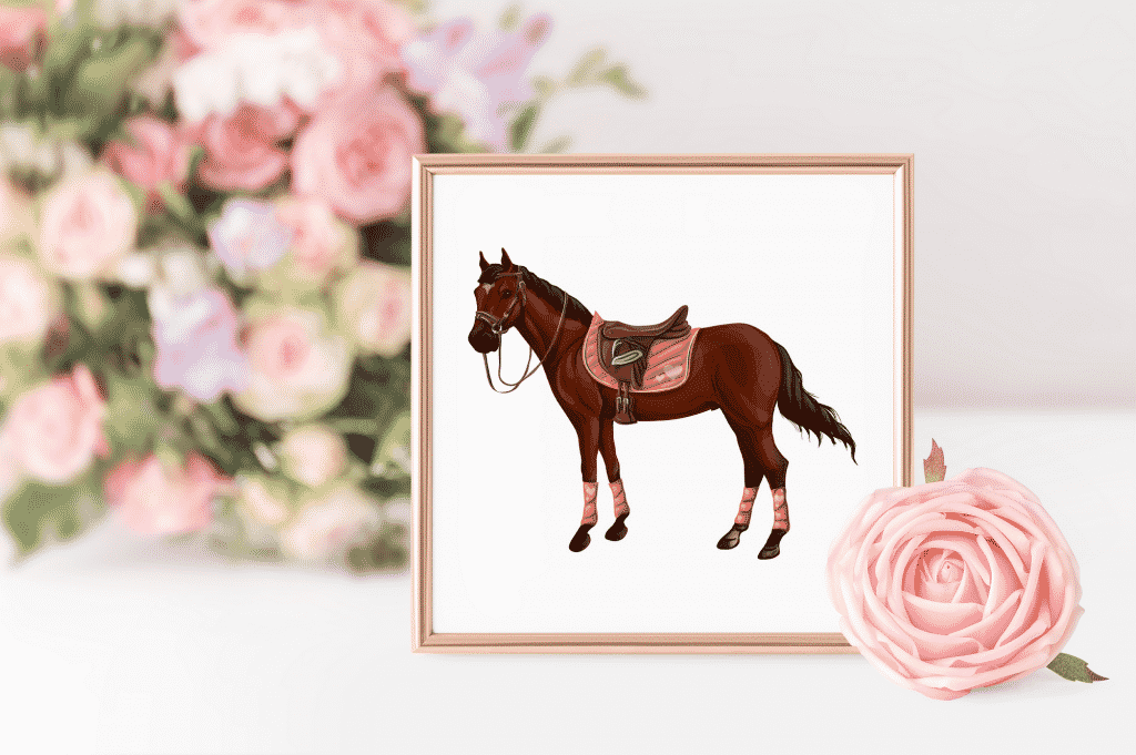 Horse Riding Vectors: patterns, cards and items - $18 - Image00009