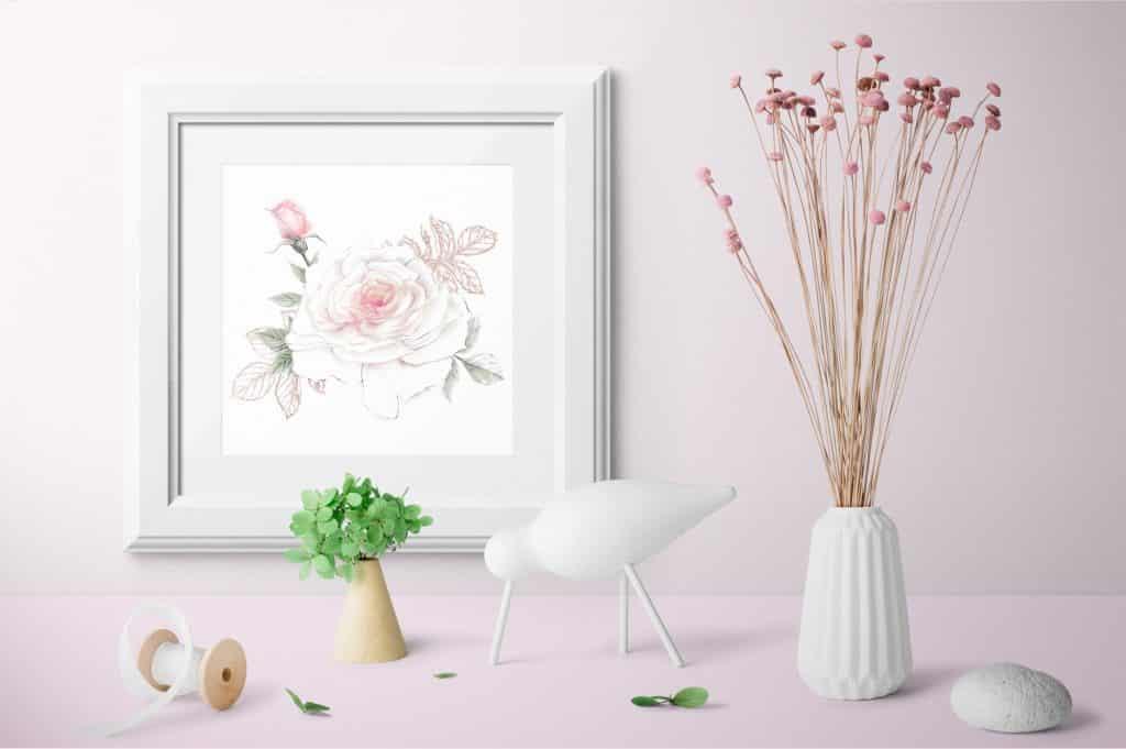 Delicate Roses Watercolor Clip Art - $15 - Image00013