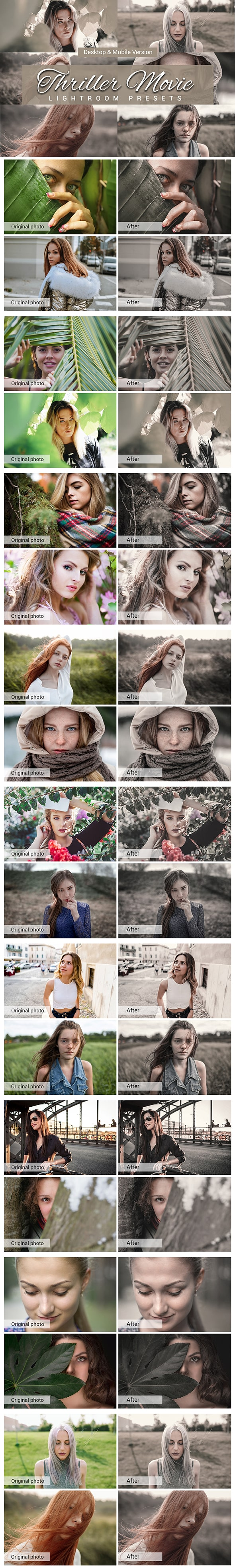 7500 New Complete Bundle Presets Lightroom, Photoshop Actions and Cinematic LUTs - Thriller Movie Preview min