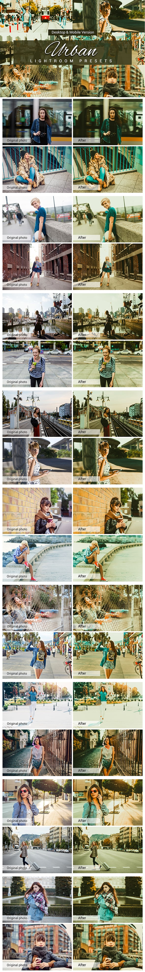 7500 New Complete Bundle Presets Lightroom, Photoshop Actions and Cinematic LUTs - Urban Preview min